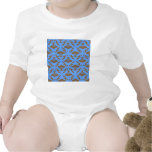 Chocolate Brown and Blue Damask Bodysuits