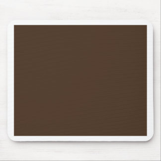 Chocolate Brown - Dark Tree Trunk Brown Color Only Mousepad