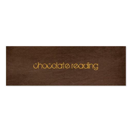 chocolate brown denim business card templates