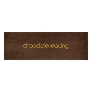 chocolate brown denim pack of skinny business cards