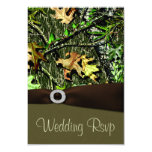 Chocolate Brown Hunting Camo Wedding RSVP Cards Personalized Announcement