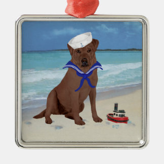 Chocolate Brown Labrador Retriever Christmas Ornament