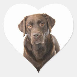 Chocolate Brown Labrador Retriever Puppy Dog Heart Heart Sticker