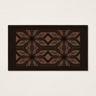 Chocolate Brown Mosaic Business Cards