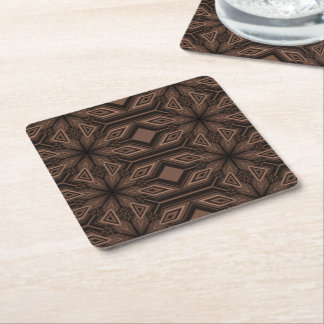 Chocolate Brown Mosaic Coasters Set of 6