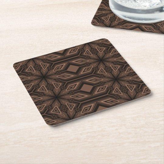 Chocolate Brown Mosaic Coasters Set of 6