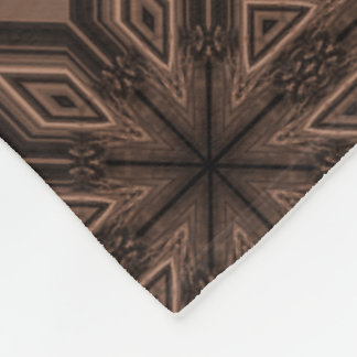 Chocolate Brown Mosaic Fleece Blanket
