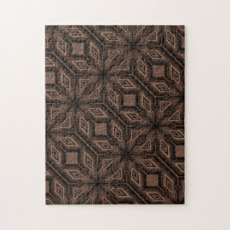 Chocolate Brown Mosaic Jigsaw Puzzle w/ Gift Box