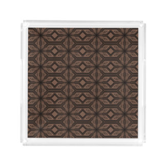 Chocolate Brown Mosaic Vanity Acrylic Tray