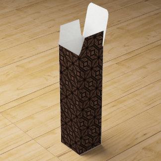 Chocolate Brown Mosaic Wine Gift Box