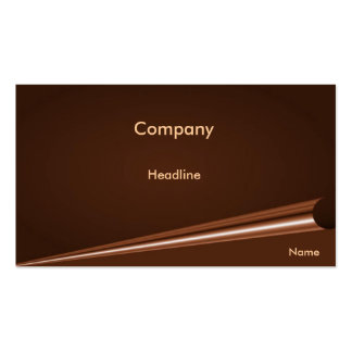Chocolate Brown Page Curl Profile Card Business Card Templates