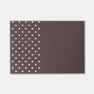 Chocolate Brown Polka Dot Post It Notes