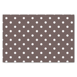 Chocolate Brown Polka Dot Tissue Paper