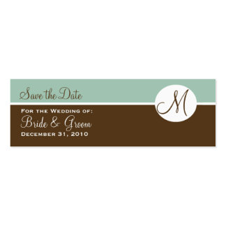 Chocolate & Brown Save the Date Card Pack Of Skinny Business Cards