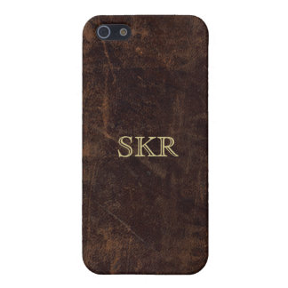 Chocolate Brown Vintage Leather Look iPhone 5/5S Case