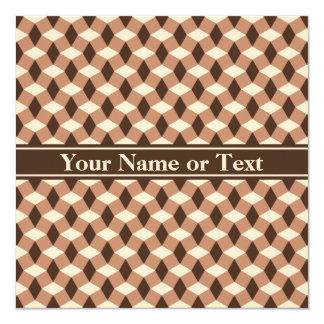 Chocolate Brown Wavy Pattern Invitation