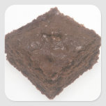 Chocolate Brownie Square Sticker