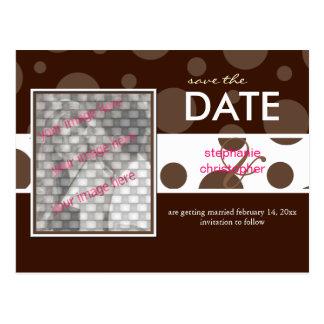 Chocolate bubbles/, Save the Date Photo postcards, Postcard