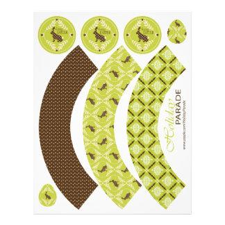 Chocolate Bunnies Cupcake Wrappers Custom Flyer