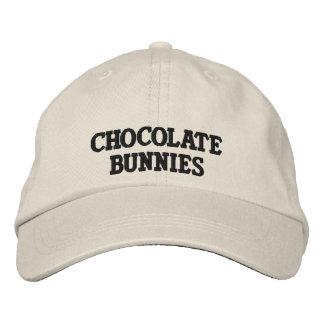 Chocolate Bunnies Logo Hat Embroidered Baseball Cap