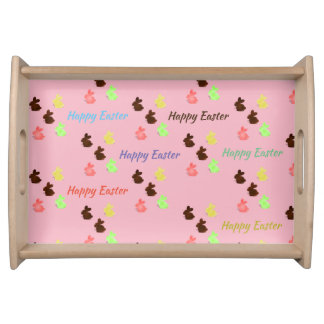 Chocolate bunnies serving tray
