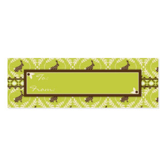 Chocolate Bunnies Skinny Gift Tag 2 Pack Of Skinny Business Cards