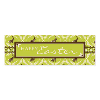 Chocolate Bunnies Skinny Gift Tag Pack Of Skinny Business Cards