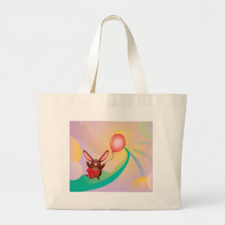 Chocolate Bunny with Balloon2 Jumbo Tote Bag