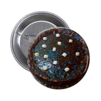 Chocolate cake 6 cm round badge