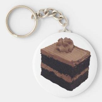 Chocolate Cake Basic Round Button Key Ring