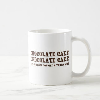 Chocolate Cake! Basic White Mug