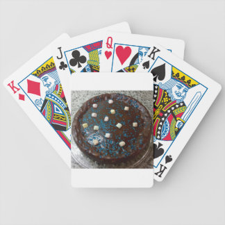 Chocolate cake bicycle playing cards