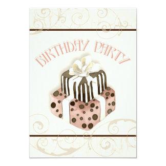Chocolate Cake Birthday Party Invitation