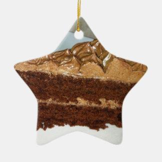 Chocolate Cake Ceramic Star Decoration