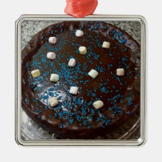 Chocolate cake christmas ornament