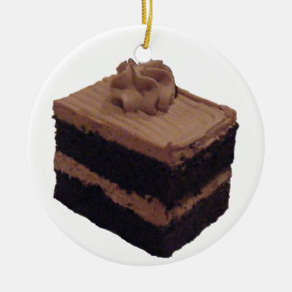Chocolate Cake Christmas Ornament