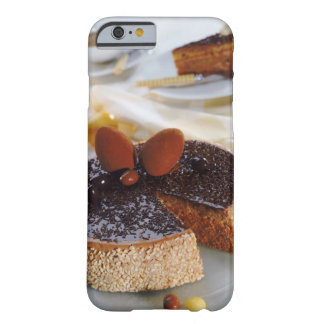 Chocolate cake on plate, close-up barely there iPhone 6 case