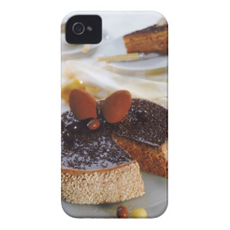 Chocolate cake on plate, close-up Case-Mate iPhone 4 case