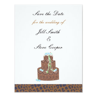 Chocolate Cake Save the Date 11 Cm X 14 Cm Invitation Card