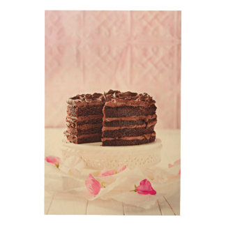 Chocolate cake, South Africa Wood Wall Decor