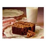 Chocolate cake square