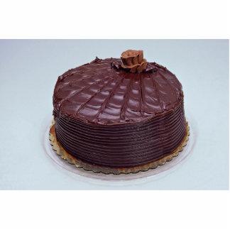 Chocolate cake standing photo sculpture