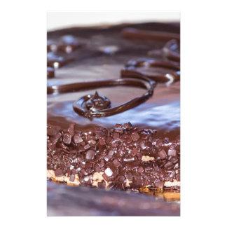 chocolate cake stationery