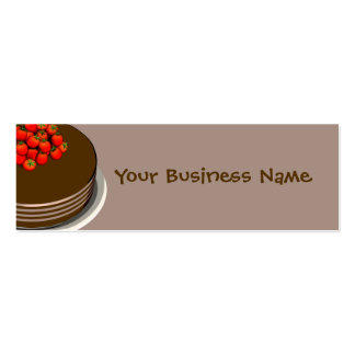 Chocolate Cake & Strawberries Business Cards