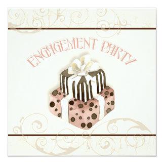 Chocolate Cake Swirl Bridal Shower Invitation