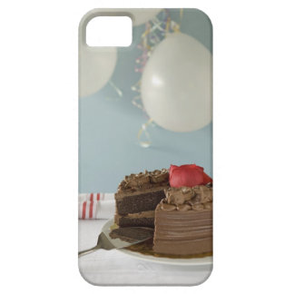 Chocolate cake with missing slice on table, barely there iPhone 5 case