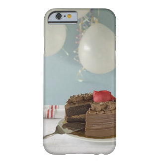 Chocolate cake with missing slice on table, barely there iPhone 6 case