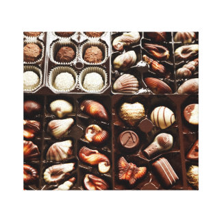 Chocolate Candy Box Canvas Print