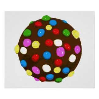 Chocolate Candy Color Ball Print