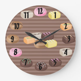 Chocolate Candy Large Clock